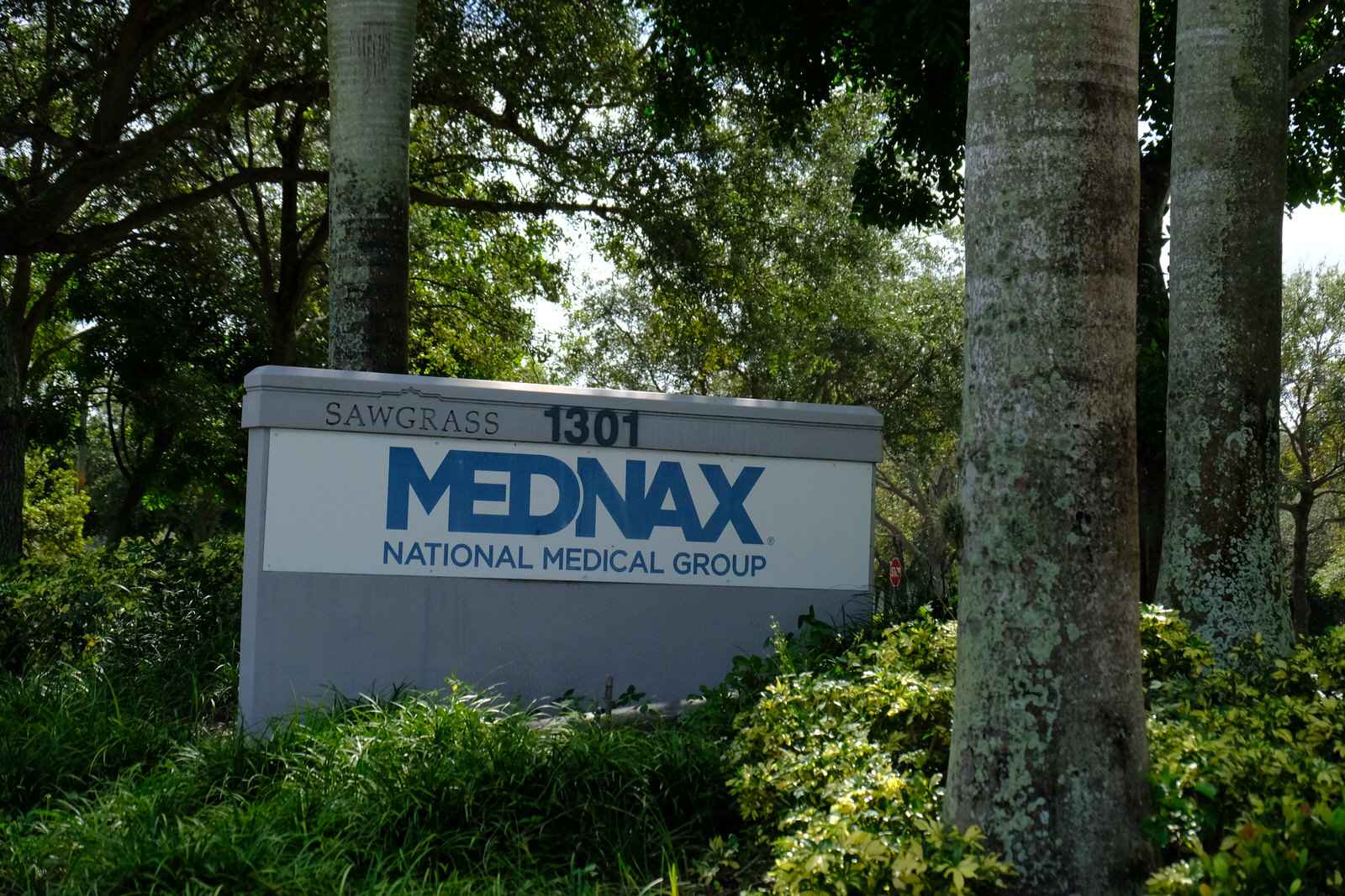 Entrance to MEDNAX's corporate headquarters in Sunrise, Florida.