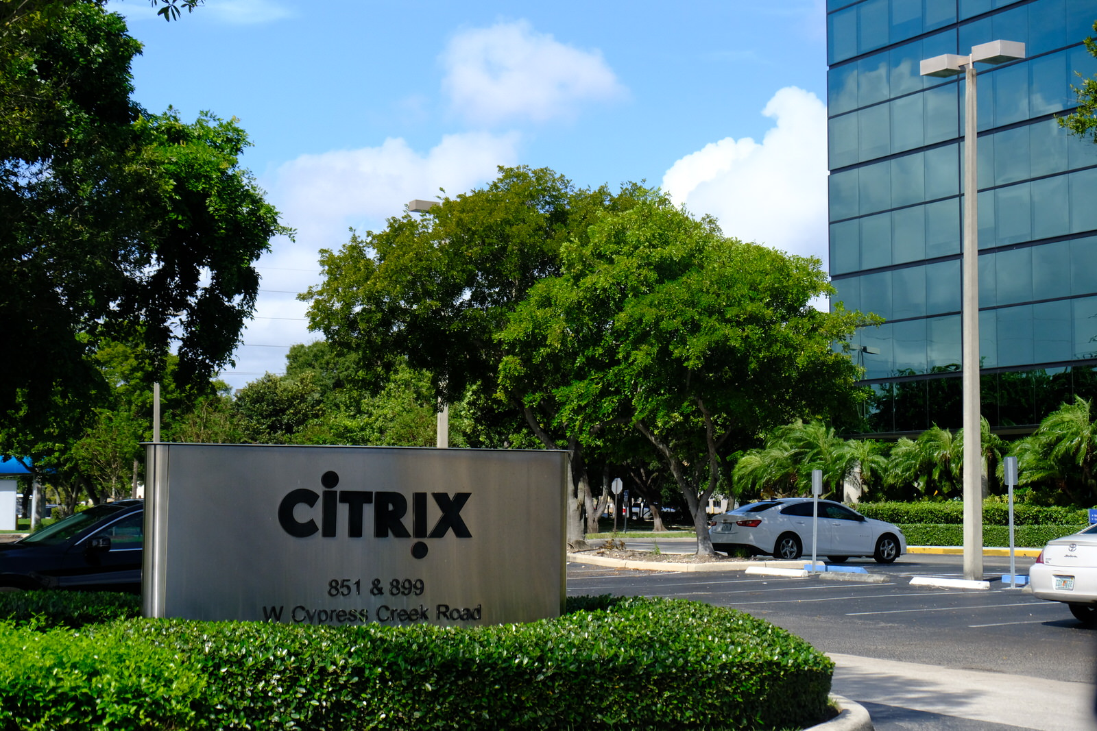 Entrance to Citrix System's corporate headquarters in Fort Lauderdale, Florida.