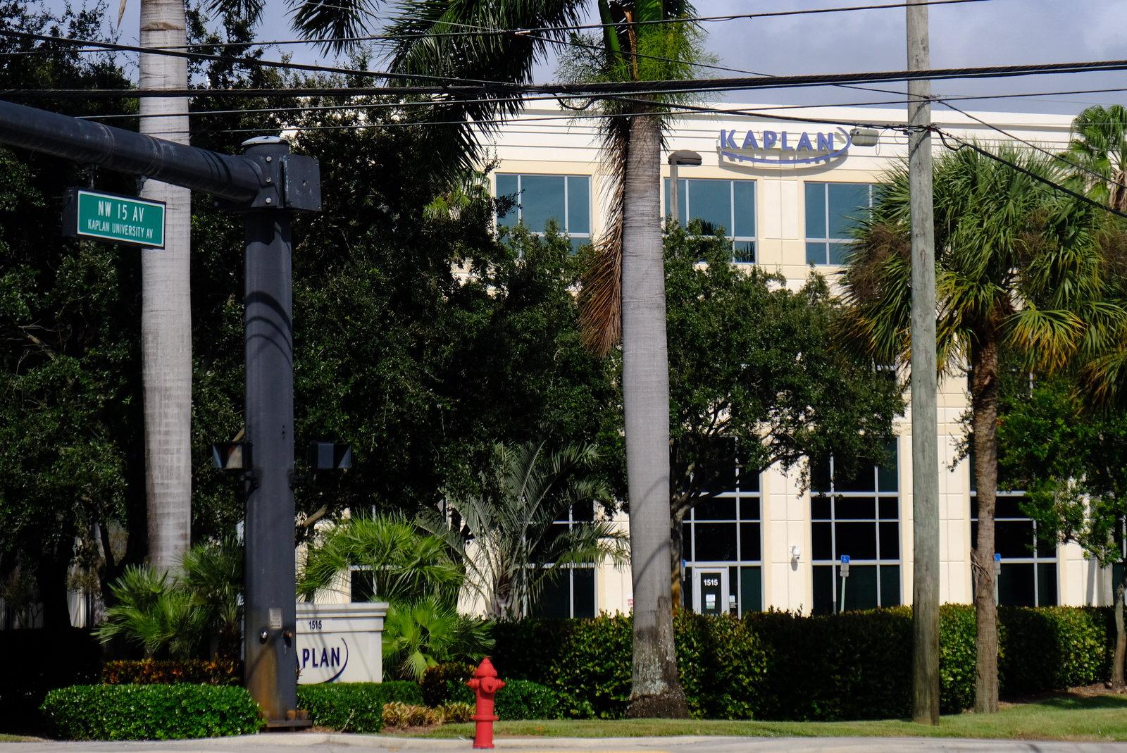 Kaplan's corporate headquarters in Fort Lauderdale, Florida.
