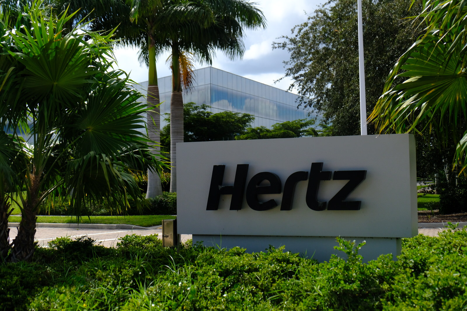 Entrance to Hertz's corporate headquarters in Estero, Florida.