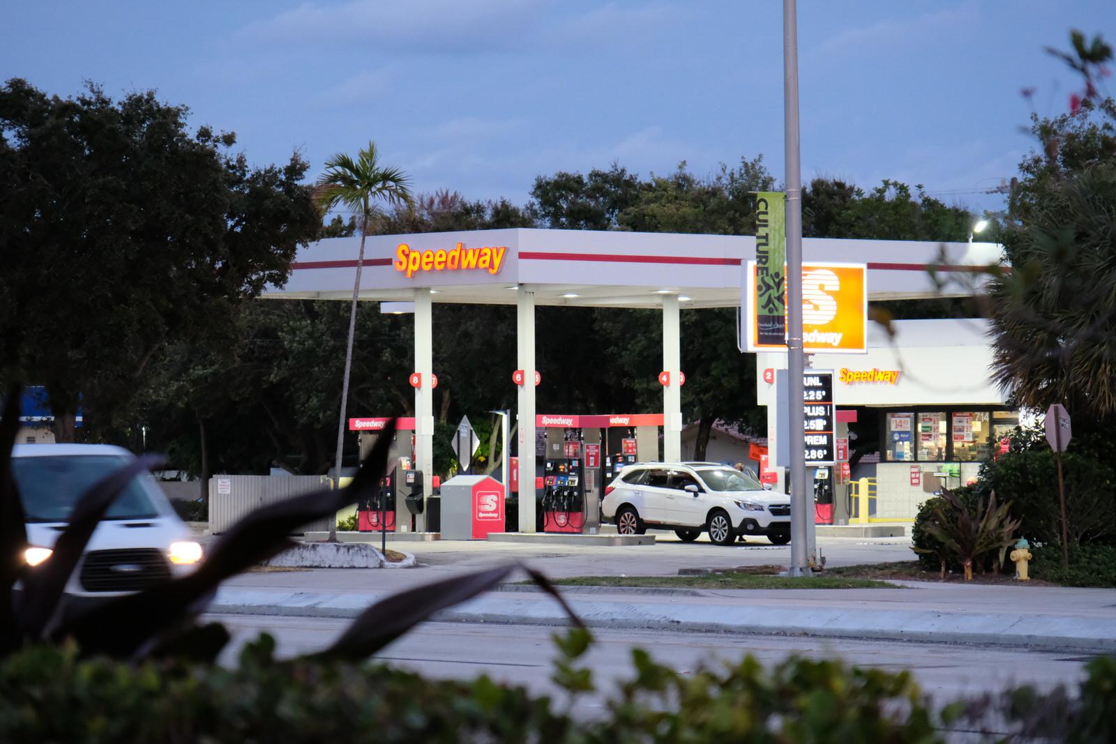 Speedway gas station in Pompano Beach, Florida.